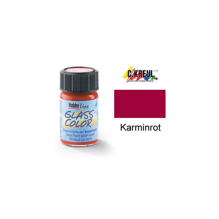 Glass Color Glasmalfarbe, 20ml, Karminrot