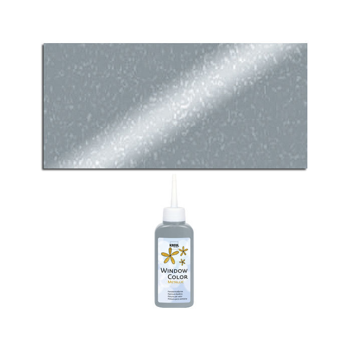 Kreul Windowcolor Metallic, 80ml, Silber