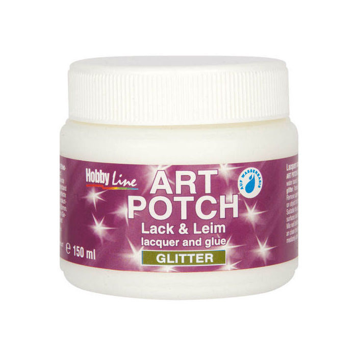 HOBBY LINE Art Potch Lack, Glitter-Gold 150ml