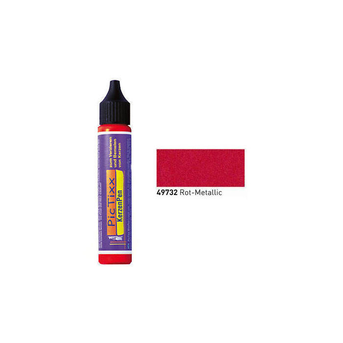 PicTixx KerzenPen, 29ml, Rot Metallic