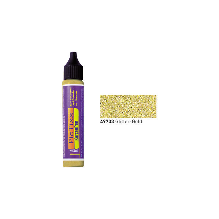PicTixx KerzenPen, 29ml, Glitter-Gold