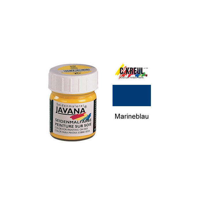 Javana Seidenmalfarbe 50ml Marineblau