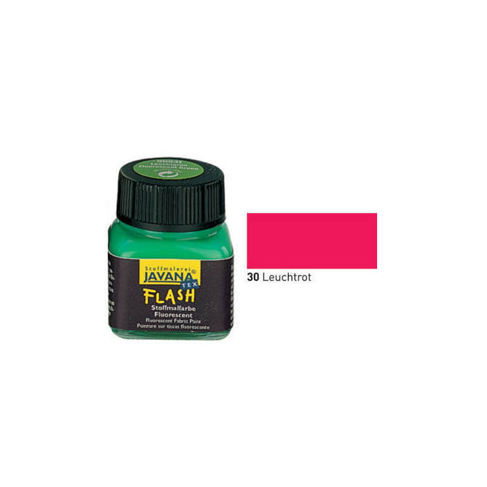 Javana Tex FLASH Stoffmalfarbe, 20ml, Leuchtrot