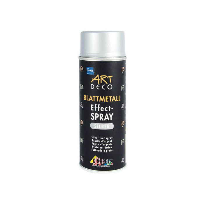 Art Deco Blattmetall  Effect-Spray Silber 400 ml