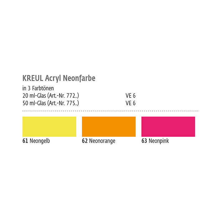 Kreul Neon-Acrylfarbe 20ml Orange Bild 2