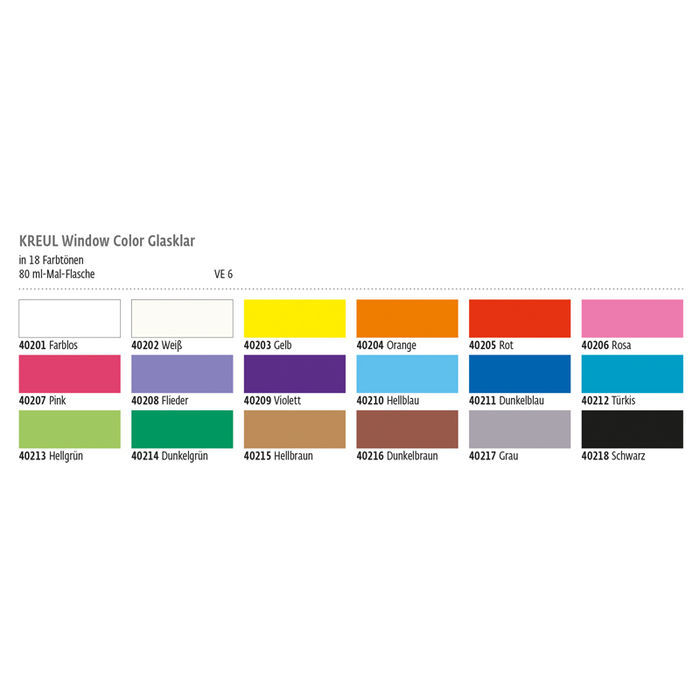 Kreul Windowcolor Glasklar 80ml Grau Bild 2