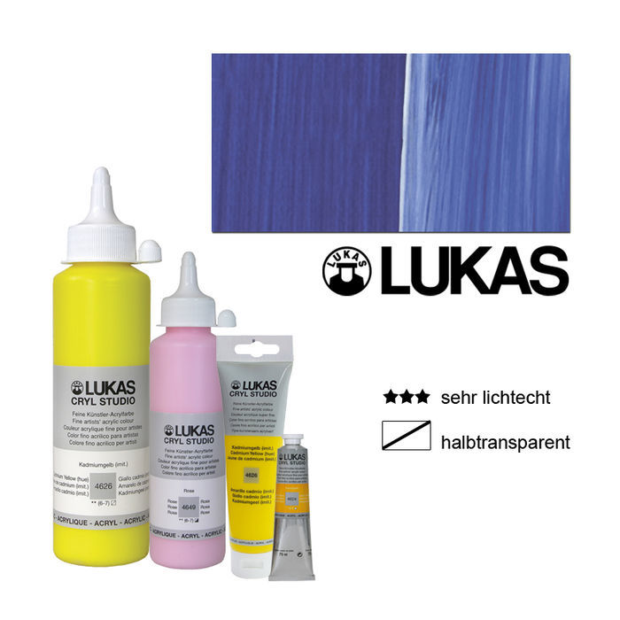 Lukas Cryl Studio Acrylmalf. 250ml, Ultramarinblau