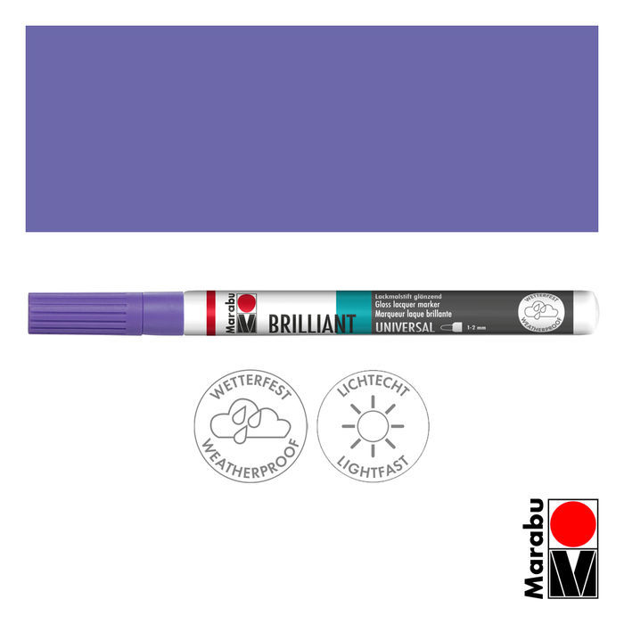 Marabu Brilliant Painter lavendel, Spitze 1-2mm