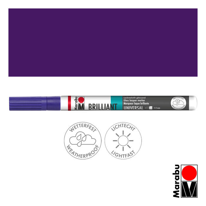 Marabu Brilliant Painter amethyst, Spitze 1-2mm