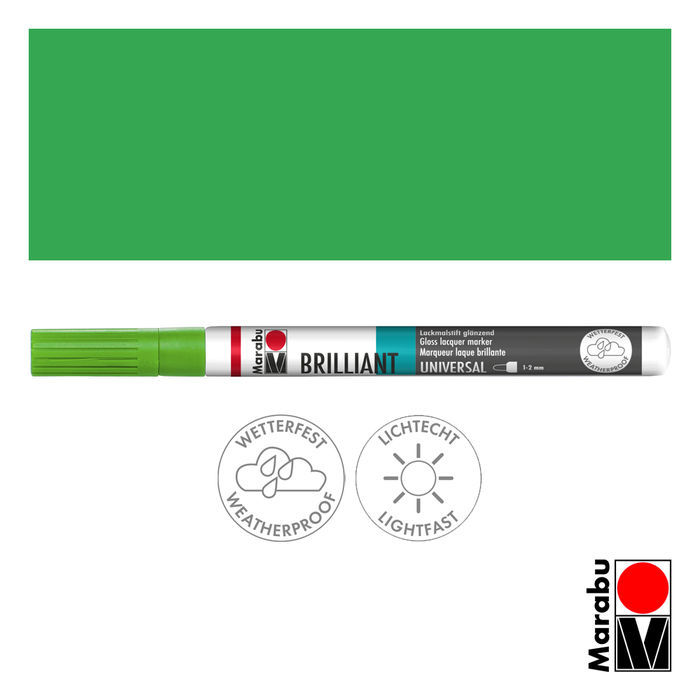 Marabu Brilliant Painter kiwi, Spitze 1-2mm