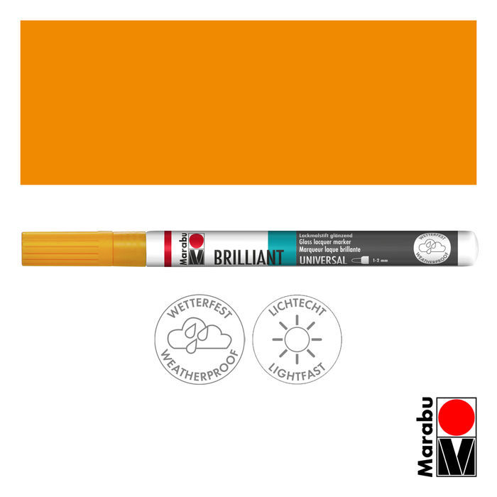 Marabu Brilliant Painter mandarine, Spitze 1-2mm