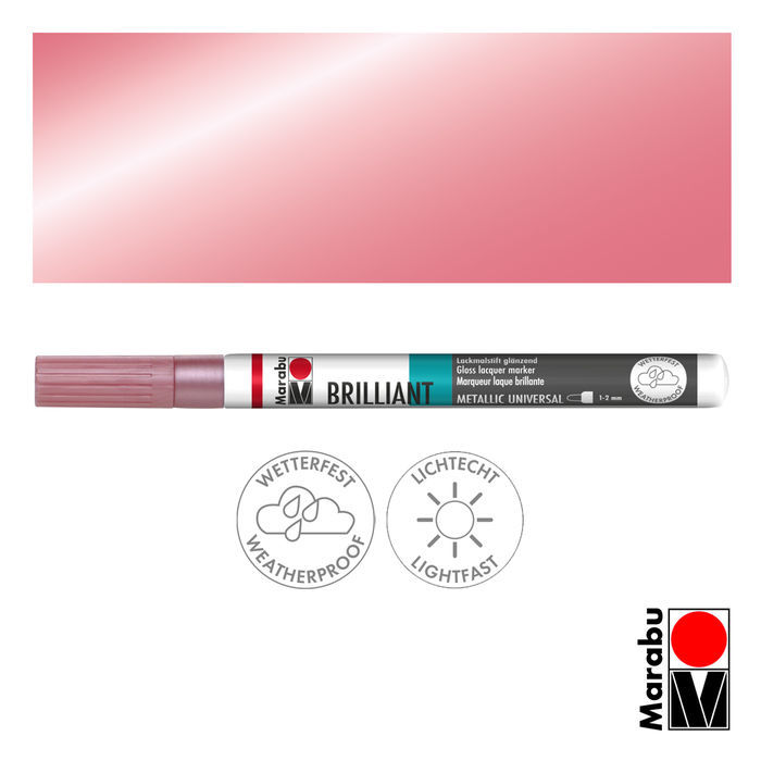 Marabu Brilliant Painter metallic-rosa, Spitze 1-2