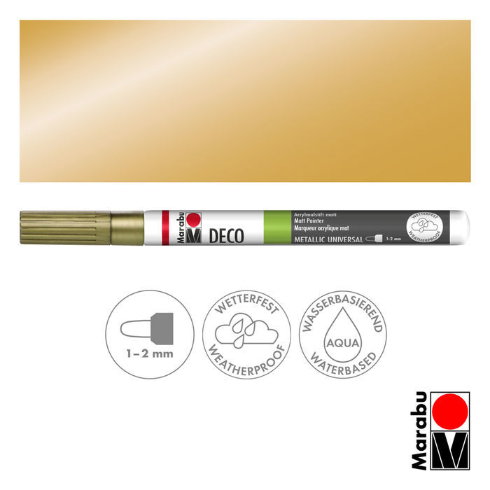 Marabu Deco Painter gold, Spitze 1-2mm