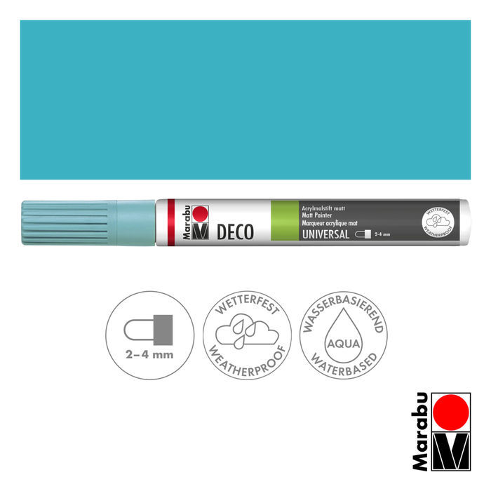 Marabu Deco Painter aquamarin, Spitze 2-4 mm