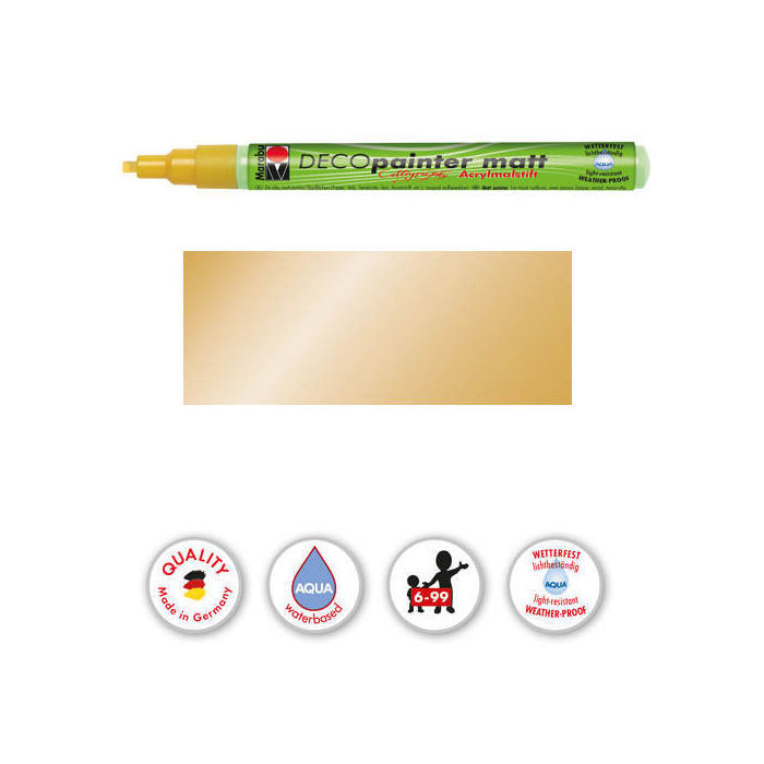 Marabu-Deco Painter 1-2,5mm Kalligrafie, Gold
