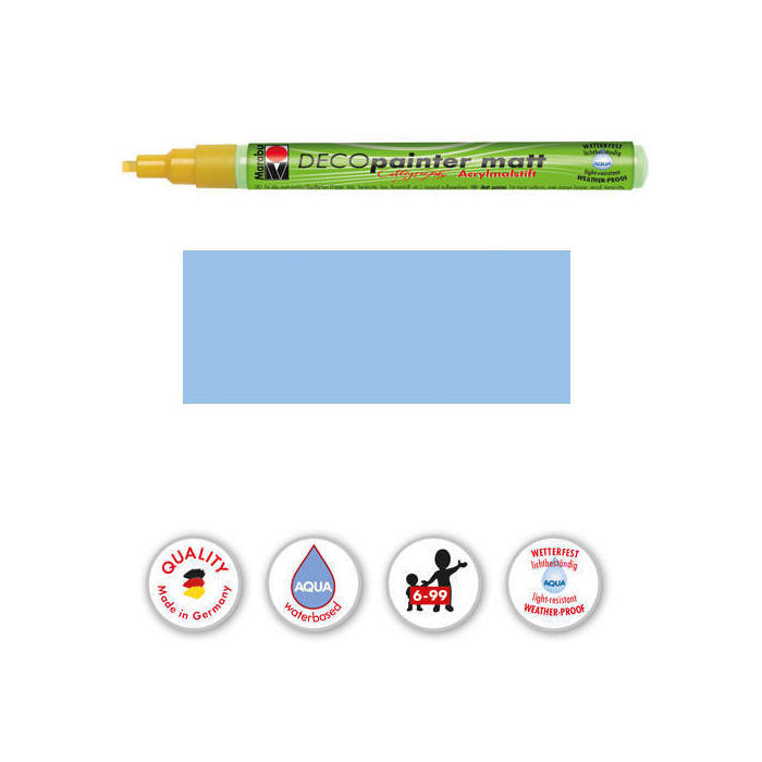 SALE DecoPainter 1-2,5mm Kalligrafie Pastellblau