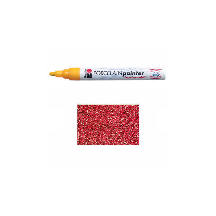 SALE Marabu Porcelain Painter glitter-rot, 1-2mm