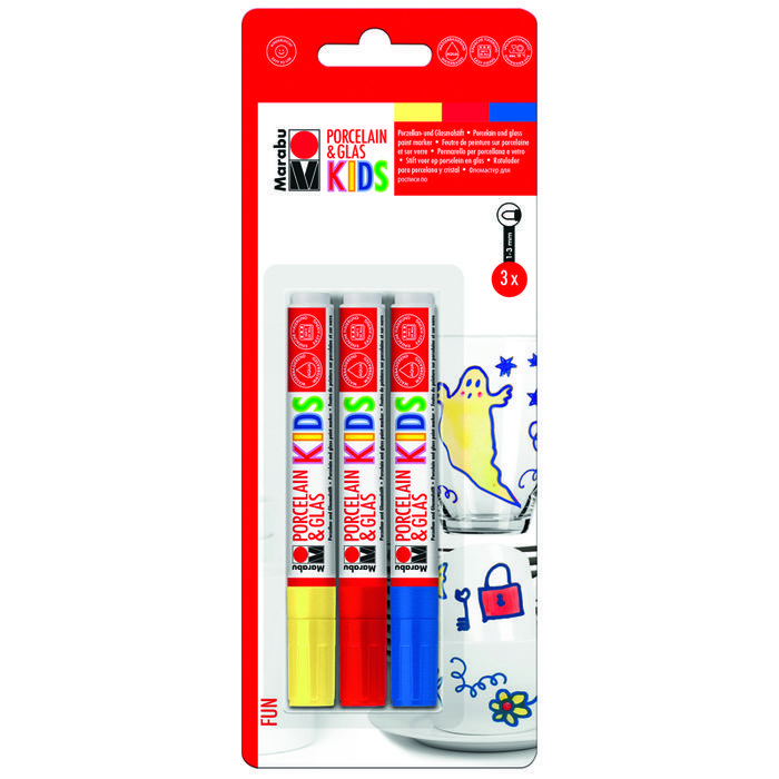 Marabu Porzellan & Glas Stift KIDS, FUN