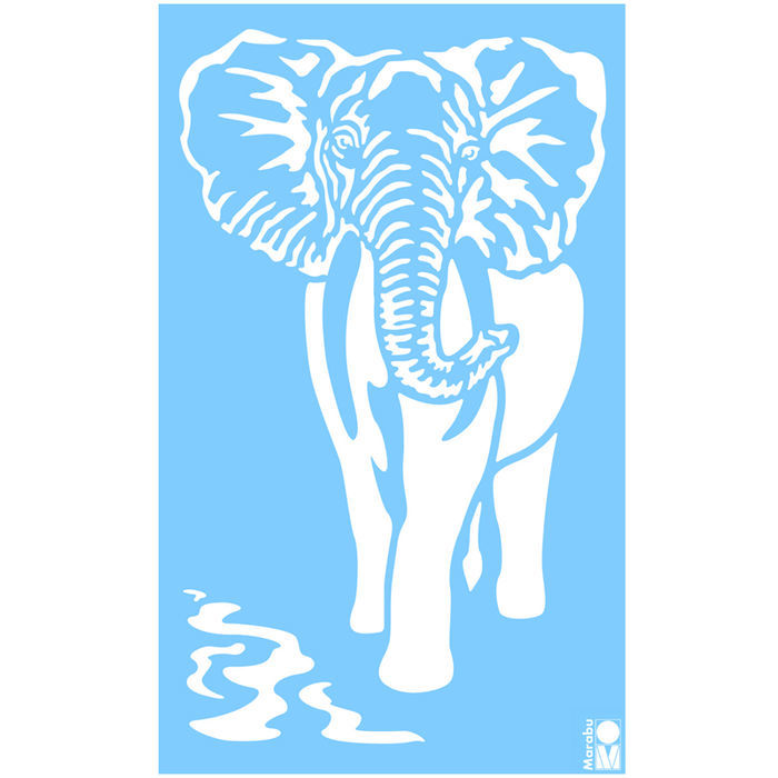 Marabu Schablone 40x66cm, Elefant - Marabu Schablonen Gross Marabu ...