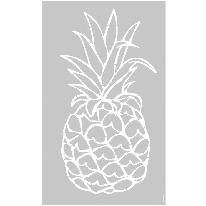 marabu schablone 40x66cm ananas schablonen schablonen. Black Bedroom Furniture Sets. Home Design Ideas