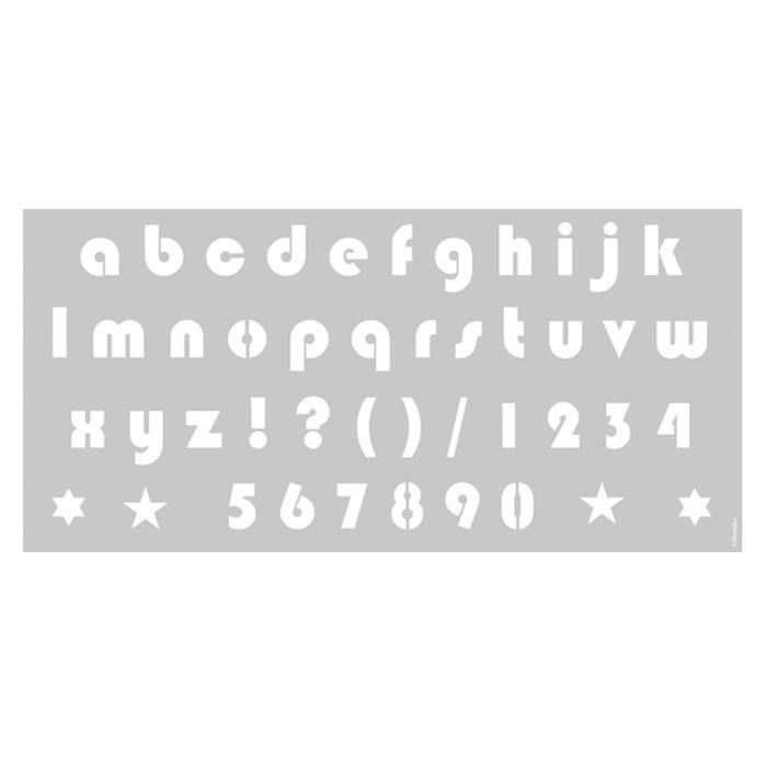 Marabu Schablone 31,5x66cm, kleine Buchstaben - Marabu Schablonen ...