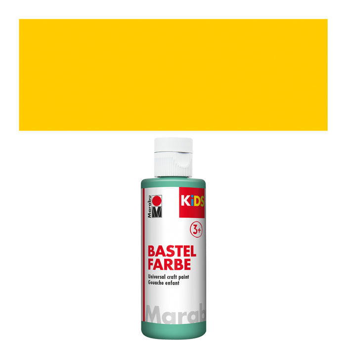 Marabu Kids Bastelfarbe, 80ml, Gelb