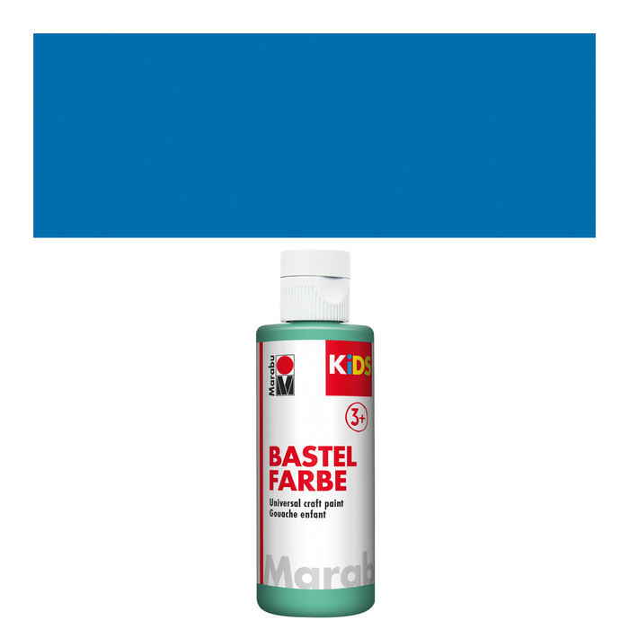 Marabu Kids Bastelfarbe, 80ml, Azurblau