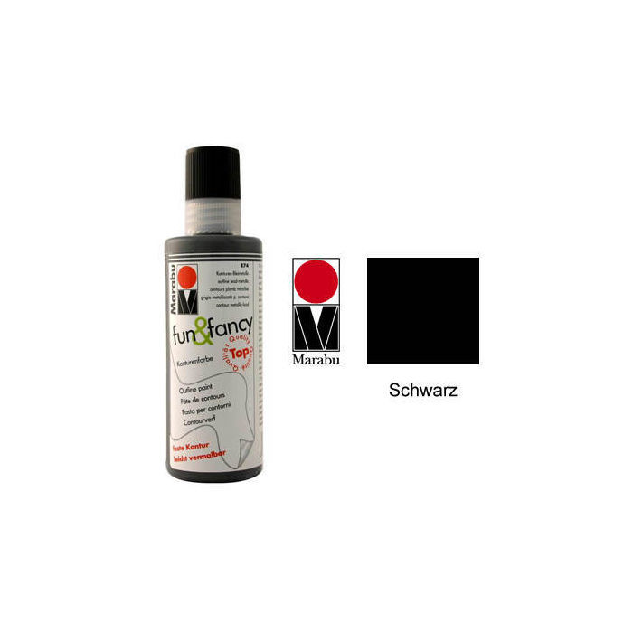 Marabu Fun & Fancy Konturenfarbe soft schwarz 80ml