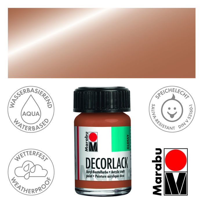 Marabu Decorlack 15ml Metallic-Kupfer