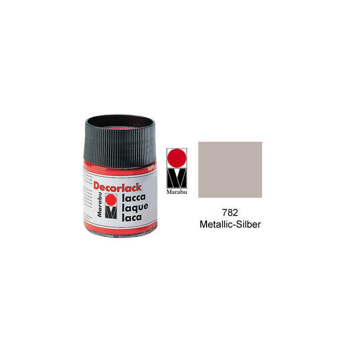 Marabu Decorlack 15ml Metallic-Silber