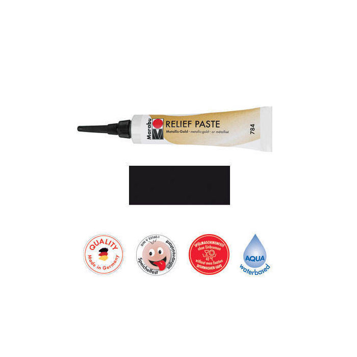 Marabu Relief-Paste Schwarz 20 ml
