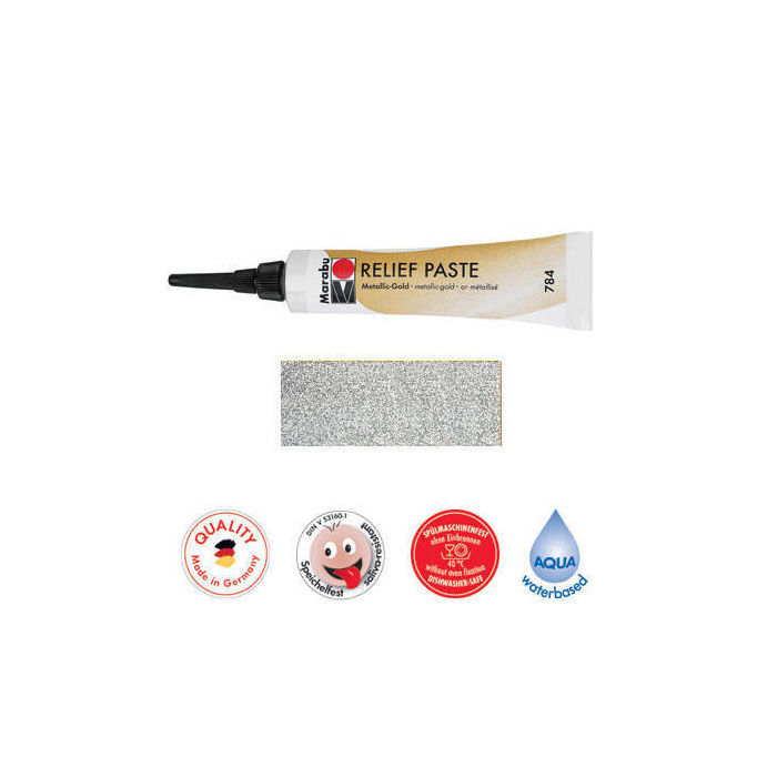 Marabu Relief-Paste Glitter-Silber 20 ml