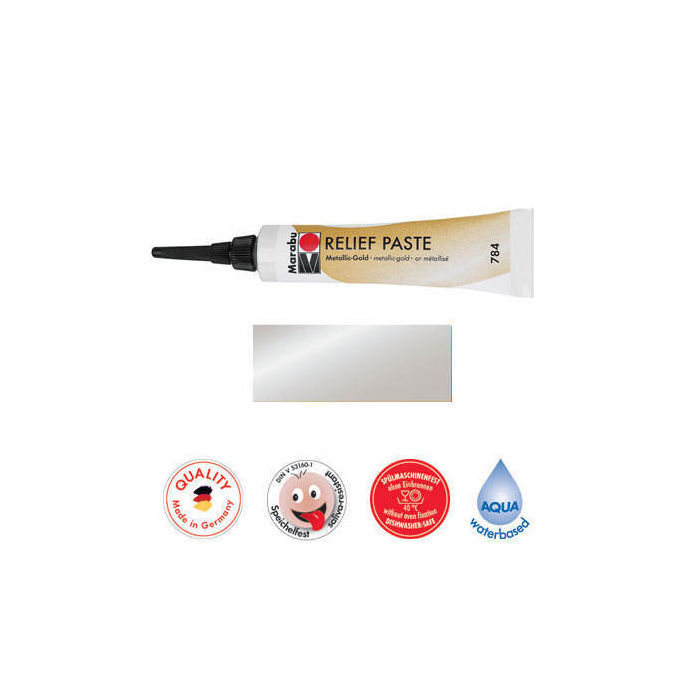 Marabu Relief-Paste Metallic-Silber 20 ml