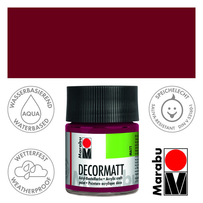 Marabu Decormatt 50ml Bordeaux