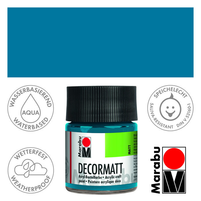 Marabu Decormatt 50ml Cyan