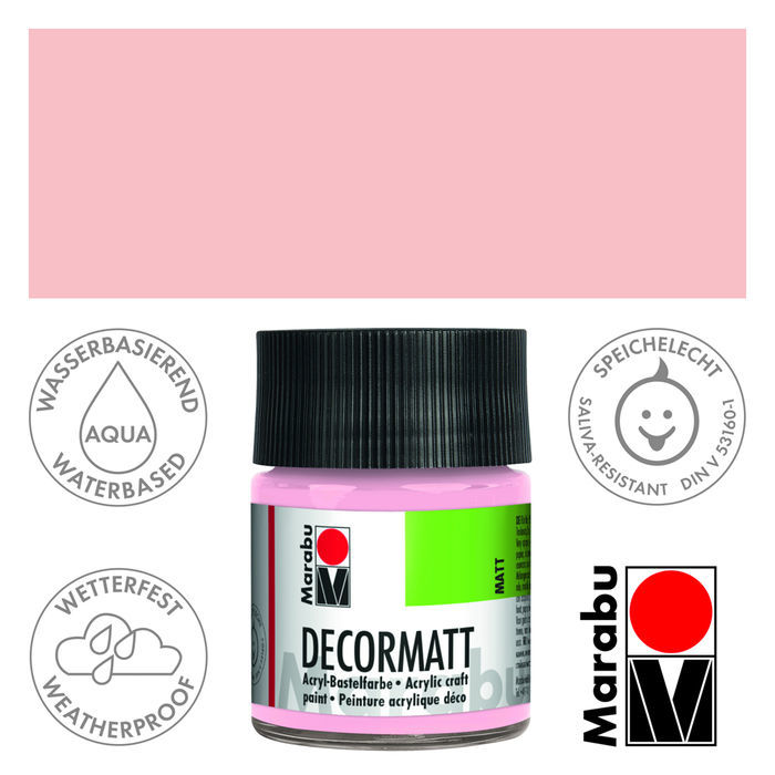 Marabu Decormatt 50ml Wildrose