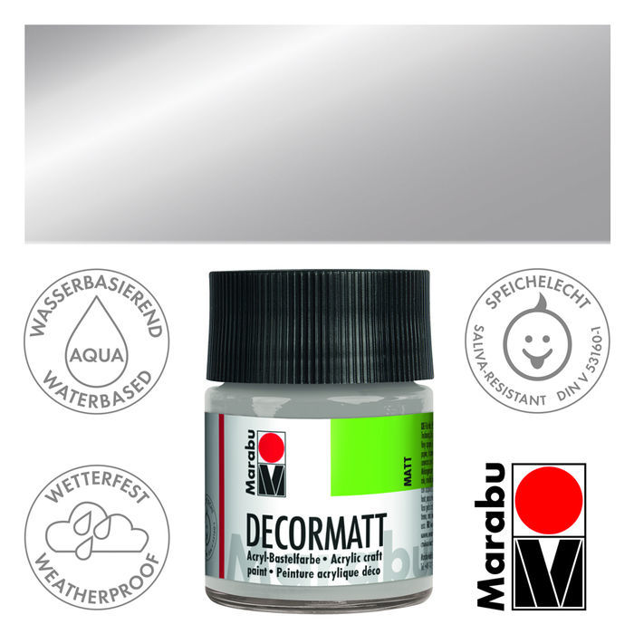 Marabu Decormatt 50ml Metallic-Silber