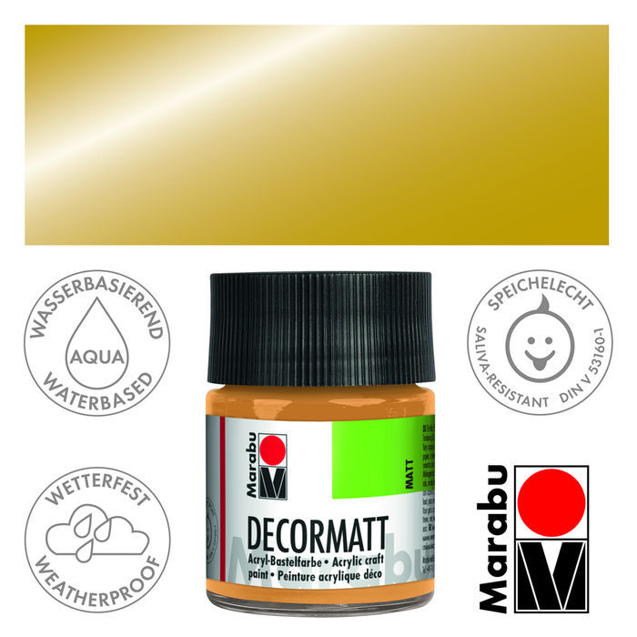 Marabu Decormatt 50ml Metallic-Gold