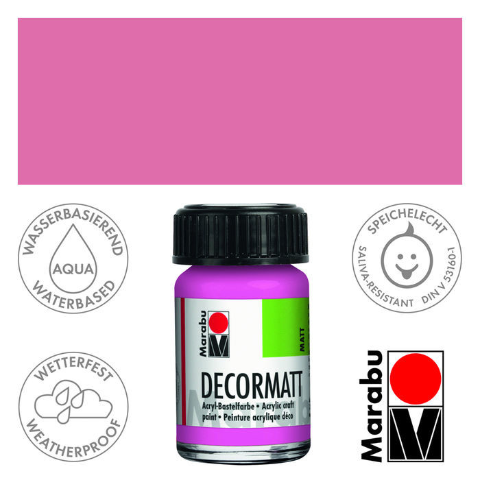 Marabu Decormatt 15ml Pink