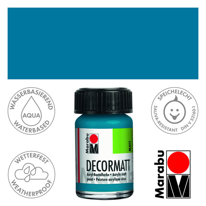 Marabu Decormatt 15ml Cyan