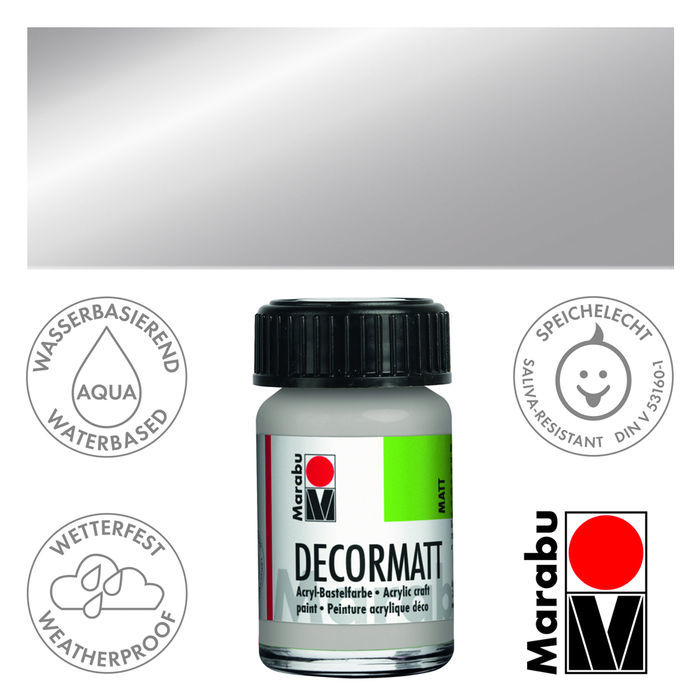 Marabu Decormatt 15ml Metallic-Silber
