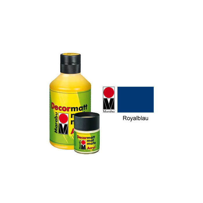 SALE Marabu Decormatt 50ml Royalblau