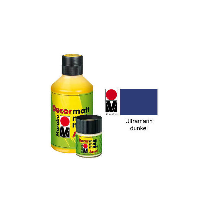Marabu Decormatt 15ml Ultramarinbl. dkl.