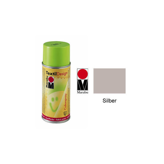 Marabu Textil Design Colorspray, 150ml, Silber