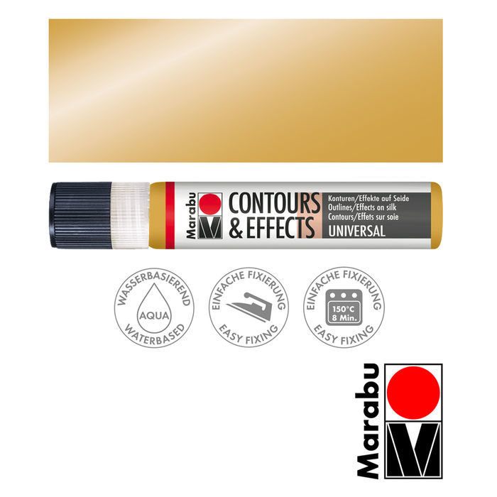 SALE Marabu Contours&Effects, 25ml, Metallic-Gold