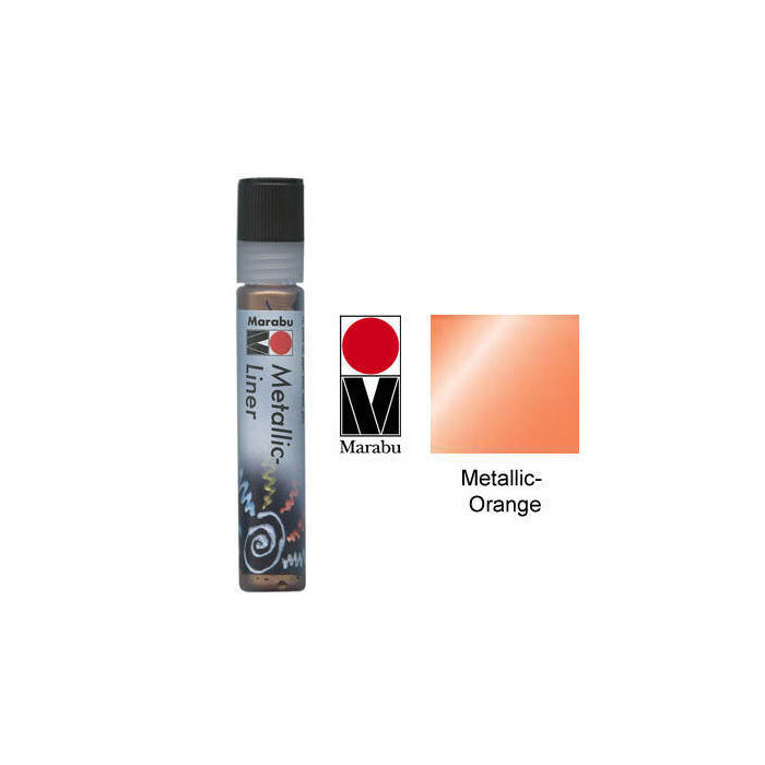 Marabu-Metallic Liner 25ml Metallic-Orange