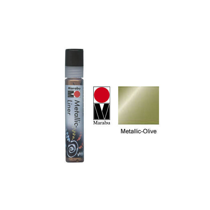 Marabu-Metallic Liner 25ml Metallic-Olive