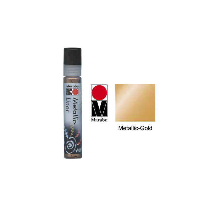 Marabu-Metallic Liner 25ml Metallic-Gold