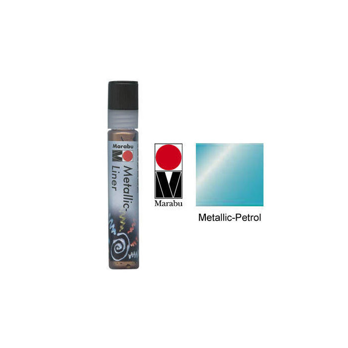Marabu-Metallic Liner 25ml Metallic-Petrol
