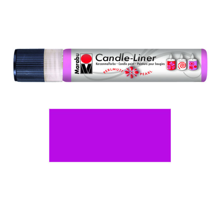 Marabu-Candle Liner 25 ml, Perlmutt Purpur